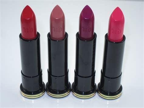 what are the colors of lipstick that gwen stefani wears on the voice urban decay gwen stefani lipstick review swatches