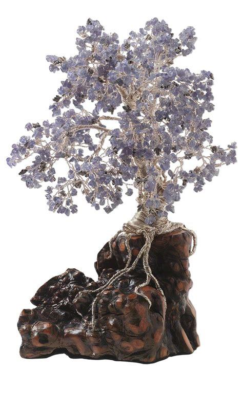 jewelry design tree sculpture with tanzanite gemstone