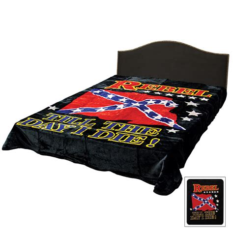 confederate flag bed set rebel flag till the day i die faux fur queen size blanket
