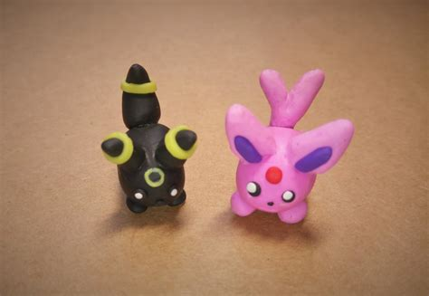 tsum tsum umbreon and espeon from polymer clay by mariqlz