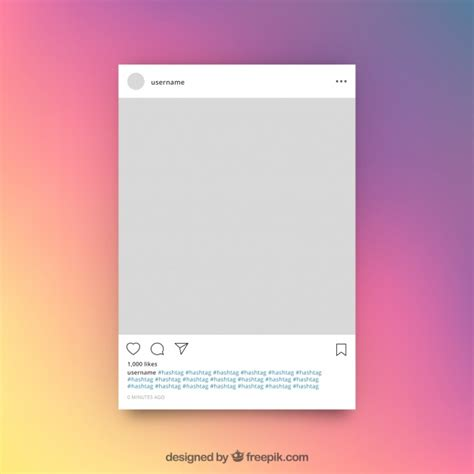 Instagram Publication Template Vector Free Download Instagram Post Template