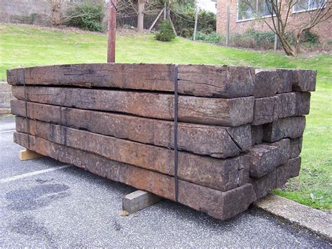 Reclaimed Hardwood Sleepers by Reclaimed Railway Sleepers Rowebb