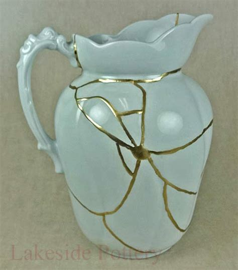kintsugi the of repairing broken ceramic with gold