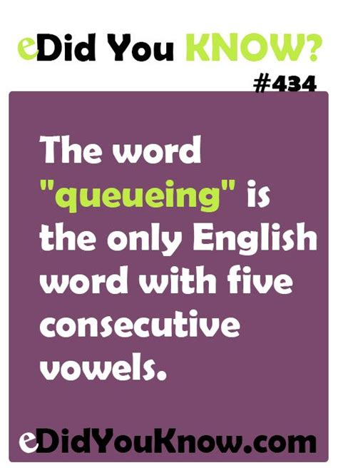 5 Letter Words Vowels Only the word quot queueing quot is the only word with five