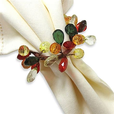 bed bath and beyond napkins autumn sparkle napkin ring bed bath beyond