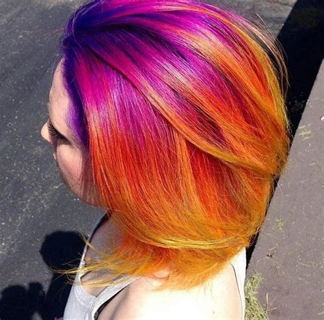 sunset hair color colorful sunset hair hair colors in 2019 dyed hair