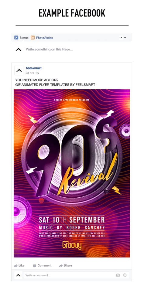 90s Revival Flyer Template Gif Animation Action By Animated Flyer Templates
