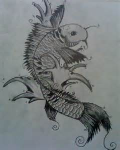 koi fish tattoo drawing by cryogonal on deviantart