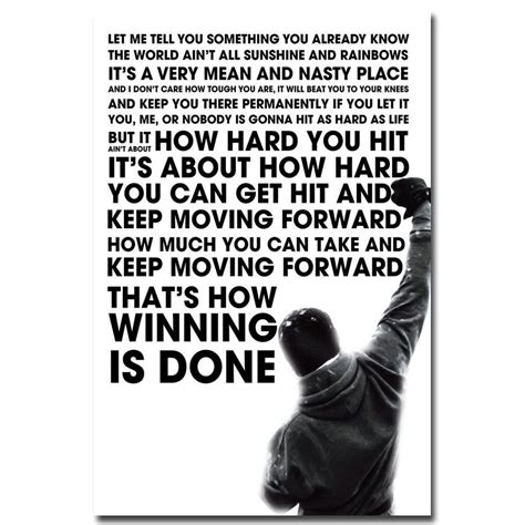 rocky balboa quotes rocky balboa inspirational motivational quote poster