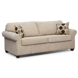 fletcher queen innerspring sleeper sofa beige value