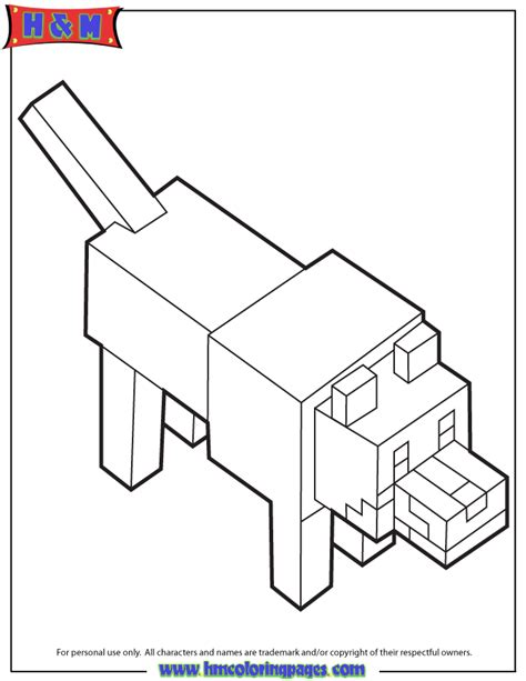 coloring pages minecraft wolf wolf from minecraft coloring pages
