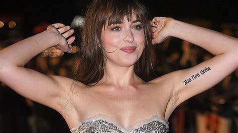 hollywood actress dakota johnson dakota johnson shows off armpit hair at suspiria
