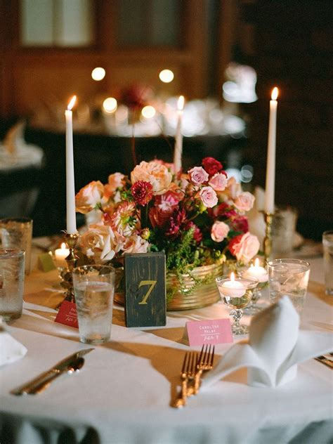 wedding table decorations with flowers and candles decoratingspecial