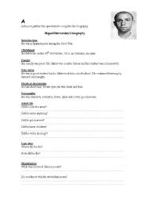 biography questions for elementary students 16 best images of autobiography outline worksheet