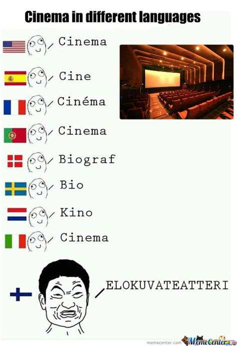 Old Language Meme - cinema in different languages by likeabossnt meme center