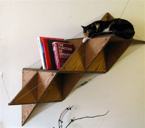 T Shelf by Triangular Shelf Shoebox Dwelling Finding Comfort