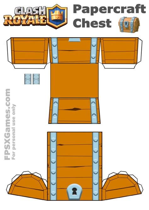Papercraft Printables - printable clash royale chest template paper crafts