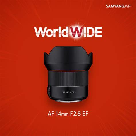 Samyang 14mm F 2 8 Lens For Canon samyang af 14mm f 2 8 ef lens for canon mount announced