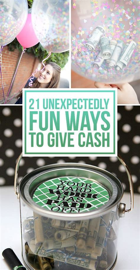 21 surprisingly fun ways to give cash as a gift grad