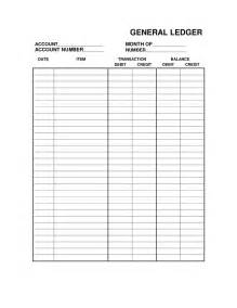 Simple Ledger Template by Free Printable Bookkeeping Sheets General Ledger Free