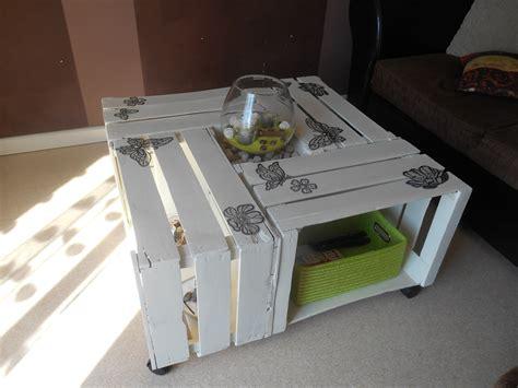table basse en caisses de pommes la d 233 co de lilie