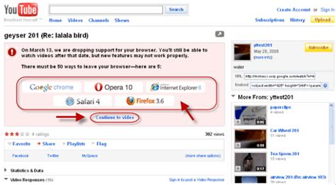 browser youtube youtube to kill ie6 support on march 13 ars technica