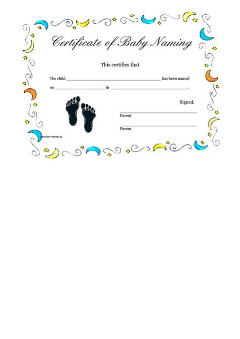 naming certificate template naming certificate template top 7 baby naming certificate templates free to