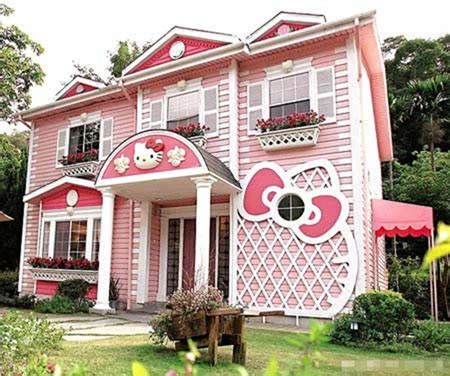 hello kitty houses the house of a dream coloured pink hello kitty theme