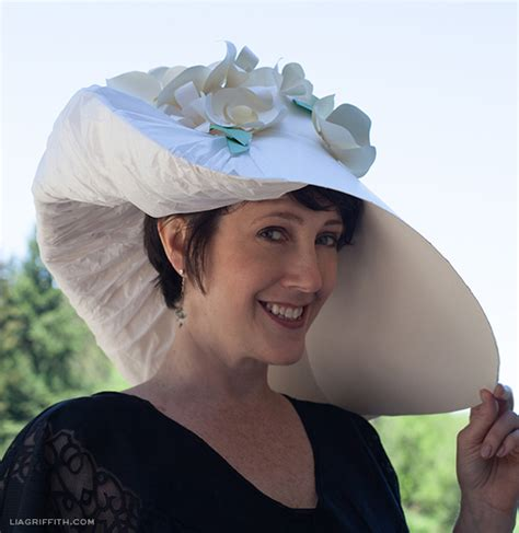 How To Make A Bowler Hat Out Of Paper - my paper diy kentucky derby hat lia griffith