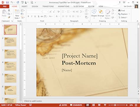 post mortem template powerpoint templates themes template format jan s working with