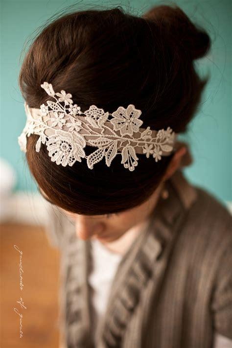 Plain Lace Hairband diy headbands glam radar