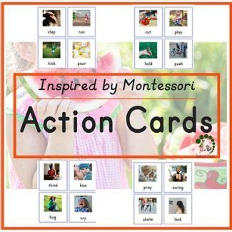 printable montessori action cards 17 best images about my body on pinterest montessori