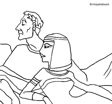 caesar and cleopatra coloring page coloringcrew com