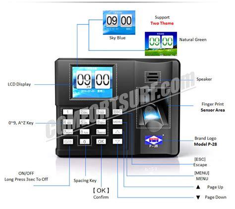 Fingerprint Office by Aibao P28 Bio Metric Biometric Office Fingerprint Time