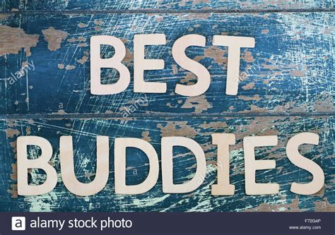 best buddies best buddies written with wooden letters on rustic surface