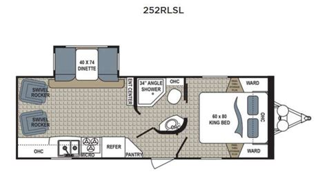 kodiak travel trailer floor plans dutchmen kodiak ultimate 252rlsl travel trailer model