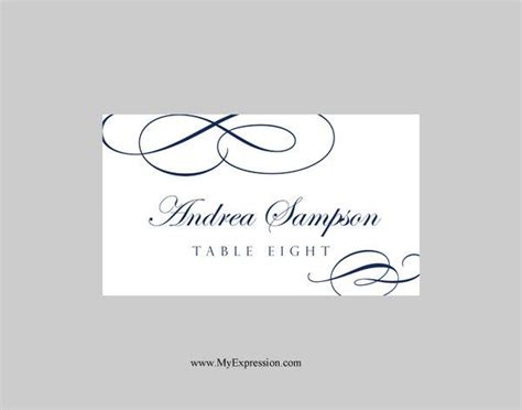 folded name place cards template wedding place cards template folded calligraphic