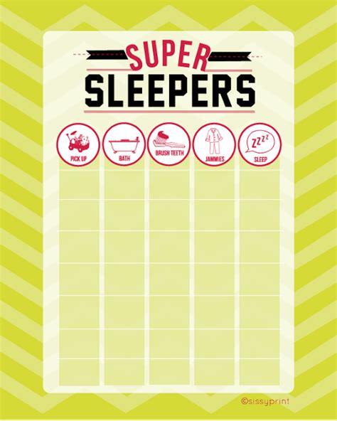free sleeper chart printable 24 7