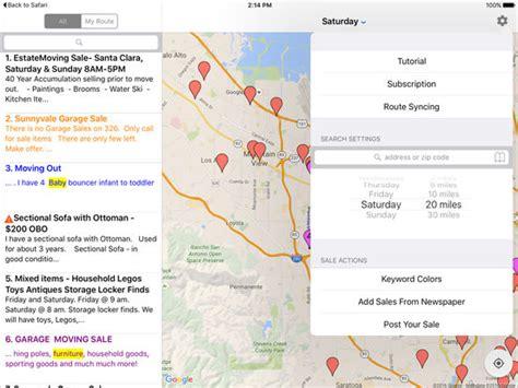 Craigslist Garage Sale Map by Yard Sale Treasure Map Screenshot