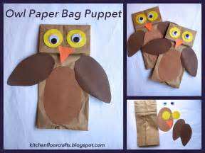 Paper Puppets Templates by Owl Paper Bag Puppet Template