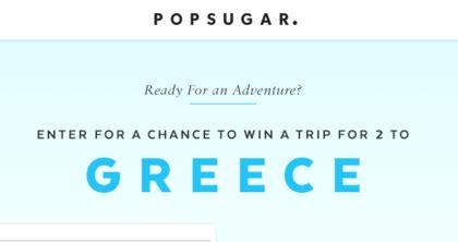 Greece Sweepstakes - popsugar trip to greece sweepstakes sun sweeps
