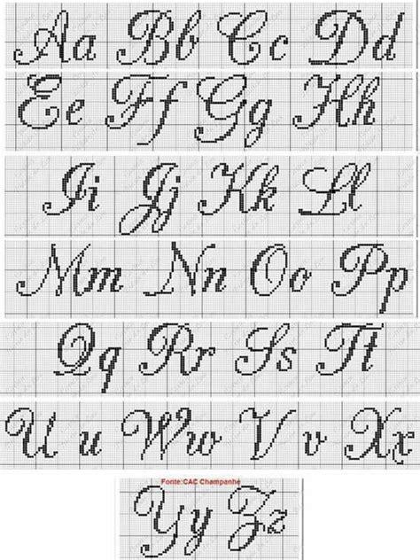 lettere punto croce corsivo alfabeto corsivo punto croce punto croce punto croce