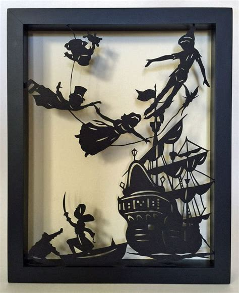 haircut coupons barrie peter pan papercut in shadow box hand cut silhouette