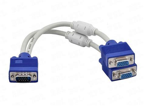 Spliter Vga Kabel high quality 1 computer to dual 2 monitor vga splitter