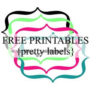 Pretty Label Templates by Pretty Label Borders Free Printables Frames Labels