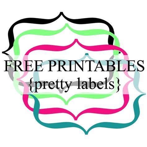 printable label borders pretty label borders free printables frames labels