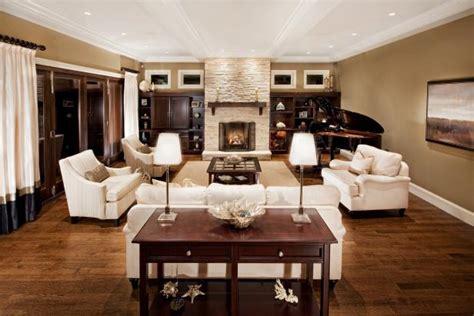 elegant traditional living room  stone fireplace
