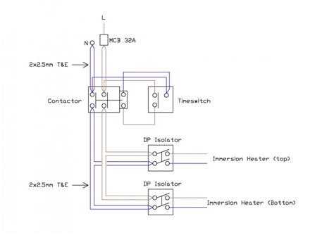 immersion heater circuit diagram strange immersion heater wiring diynot forums