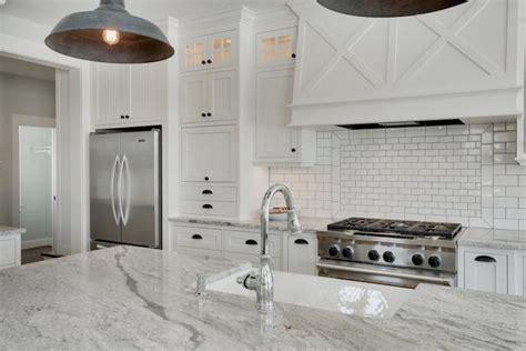 Beadboard Backsplash In Kitchen Super White Granite Counters Transitional Kitchen