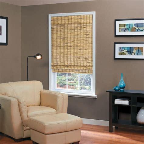 thro home l shade homebasics burnout natural woven bamboo cordless roman